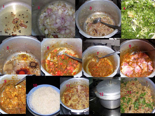 chicken biriyani in pressure cooker 1