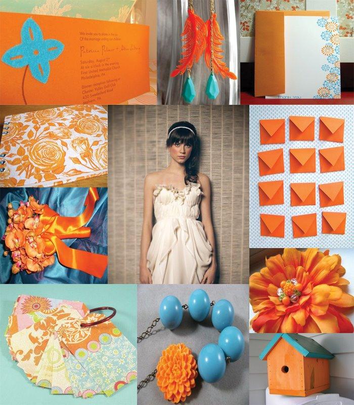 Decorating Life: Wedding: Teal&Orange