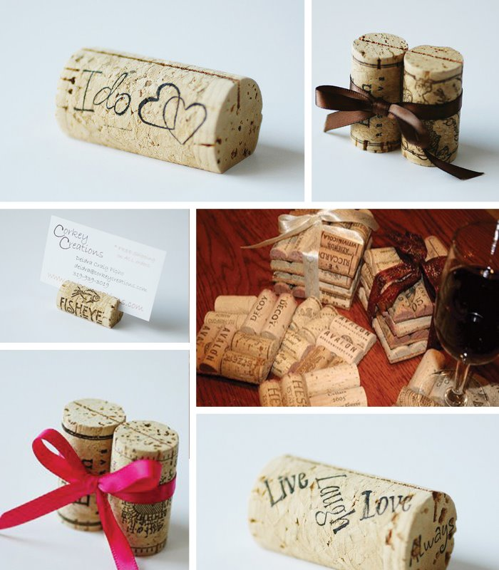 Cork Crafts For Weddings: Etsy Handmade Wedding Inspiration: A