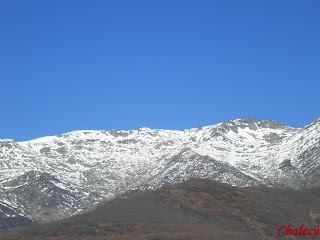 sierra de tornavacas pico calvitero con nieve