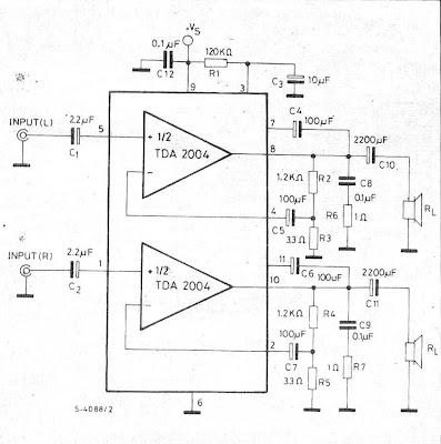 world technical: TDA2004 Amplifier Car audio stereo OTL