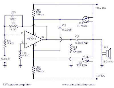 world technical: Simple 10W audio amplifier
