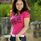 Anu Poorva in Pink Tshirt & Jeans Photo Set