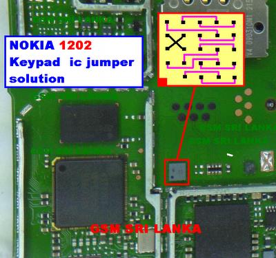 Mobile Technology: Nokia 1202 Keypad IC Jumper