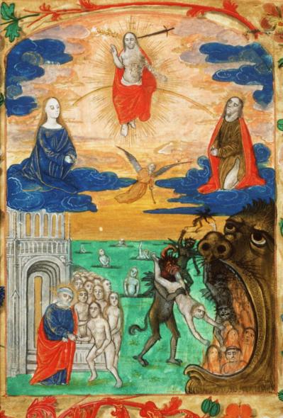 [Het+laatste+oordeel.+Bovenin+is+Christus+afgebeeld.+Links+van+hem+staat+Maria,+rechts.van+hem.Johannes.de.Doper..jpg]
