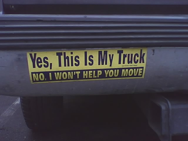 Yes this is my truck no i wont help you move