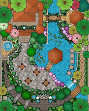Contoh Lukisan Landskap Halaman Rumah Cikimm Com