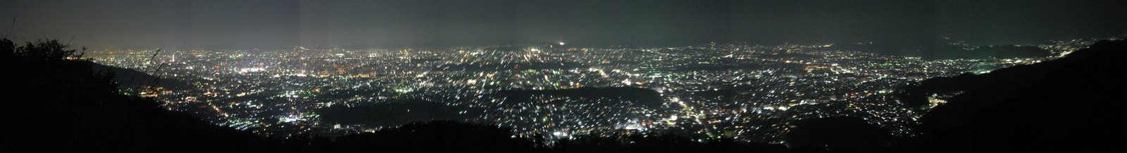 Kyoto by night - Panorama from Daimonji