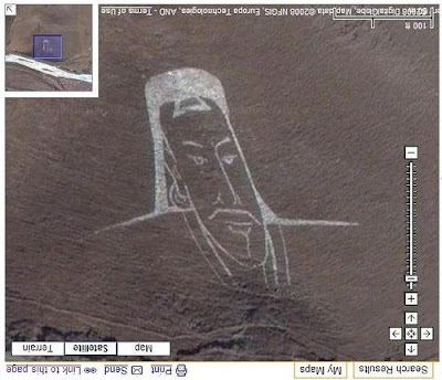 Portrait of Ghenghis Khan in Google Maps