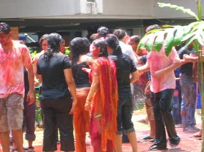 holi celebrations nus 2008