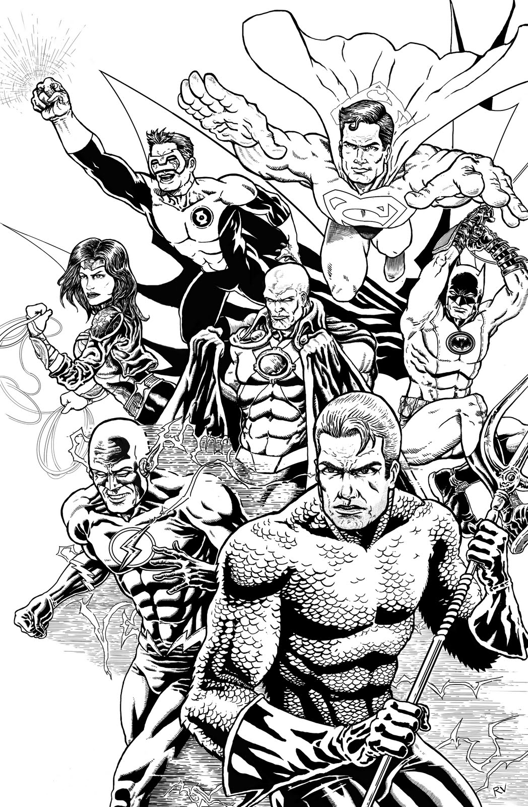 New cool meat january 2011 for Justice league printable coloring pages