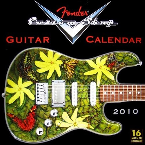 2010 fender custom shop calendar stratocaster guitar. Black Bedroom Furniture Sets. Home Design Ideas