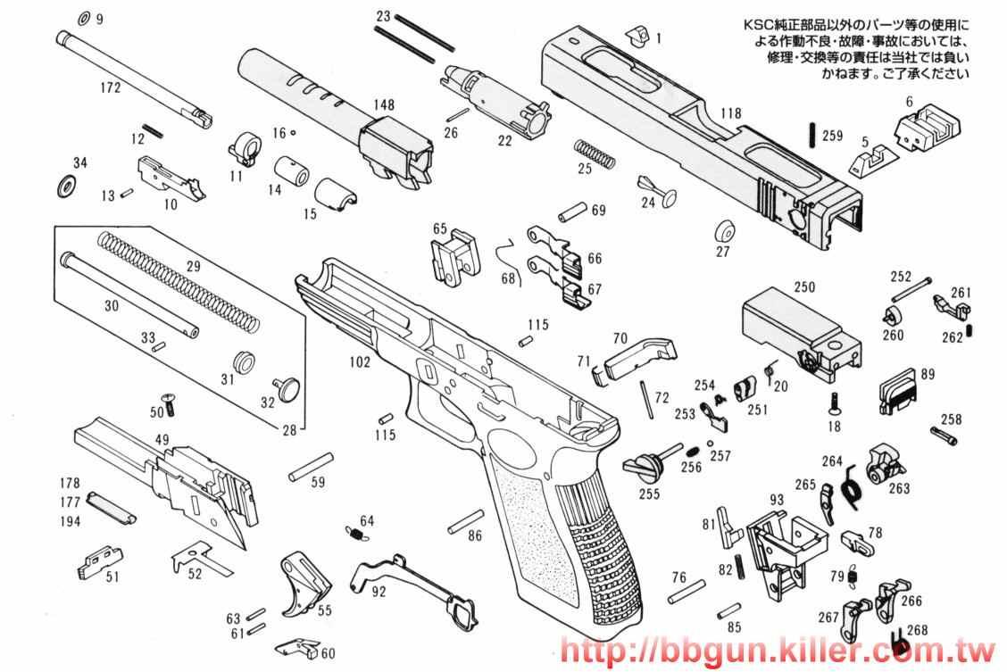 diagrama glock 18c