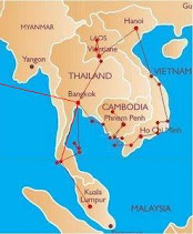 Reiseroute South East Asia
