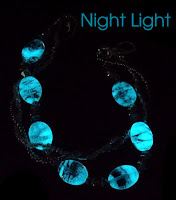 Glow in the dark beads at night