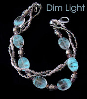 Glow in the dark beads in dim light