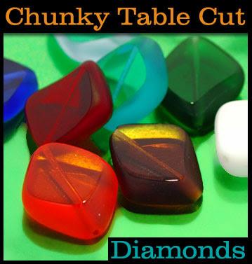 czech table cut beads
