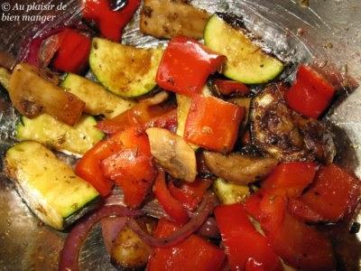 Au plaisir de bien manger l gumes grill s au vinaigre balsamique - Recette legumes grilles au four ...