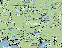 volga rivier kaart