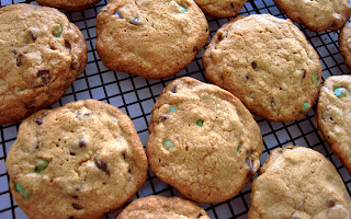 Hidden Emerald Chocolate Chip Cookies