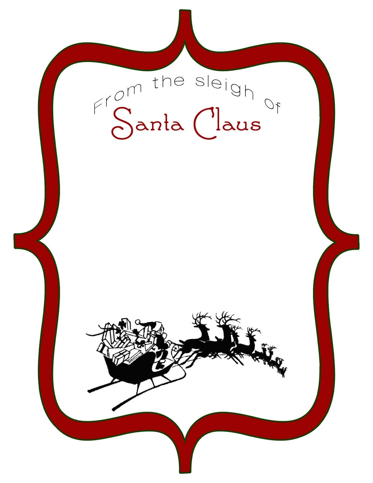 Christmas Paper Santa Claus Letter Head