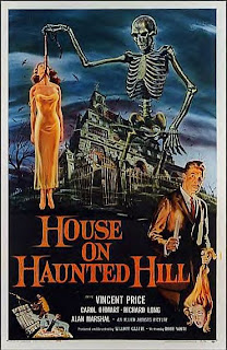 Poster for House on Haunted Hill, a Vincent Price film