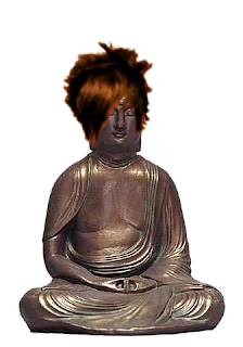 A Buddha has an emo makeover