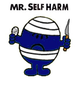 Mr Self-Harm, the emo deity