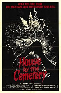 House by the Cemetery poster, a film by Lucio Fulci