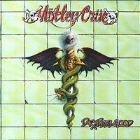 Motley Crue, Mötley Crüe Dr Feelgood album cover.
