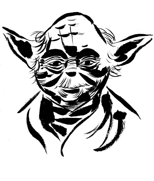 Yoda Images Black And White