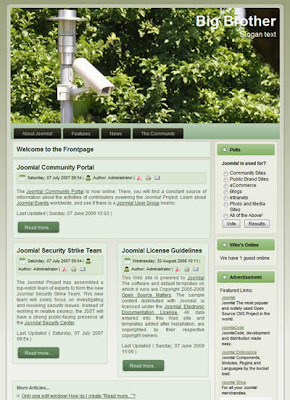 free joomla 1.5 template big brother security