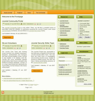 three column joomla 1.5 cms website business template