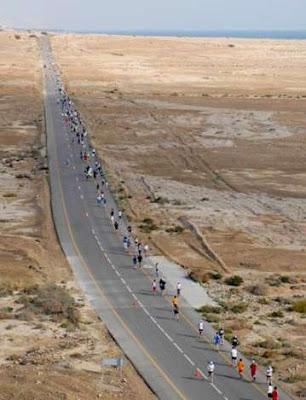 Maratón el Mar Muerto en Jordania