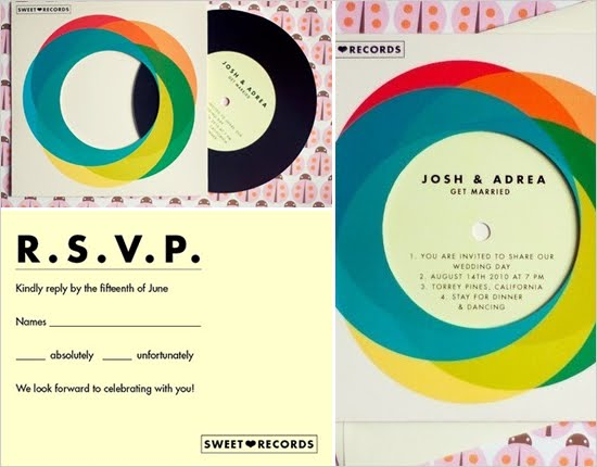 Record Wedding Invitations: Erin Ever After: Record Wedding Invitations