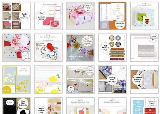 plantillas, moldes, gráficos, calendarios, notas, ribbons, etiquetas