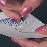 tarjetas, postales, puntadas, hilo, costura, labores, manualidades