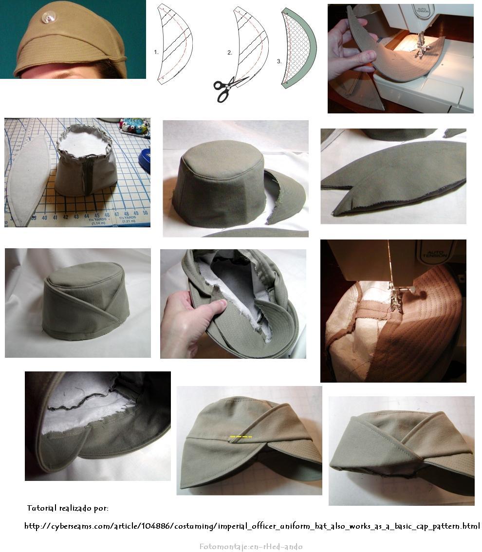 Como hacer Boinas Militares, Marineras. Años 50