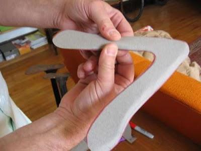 Como hacer un Boomerang.Plantilla