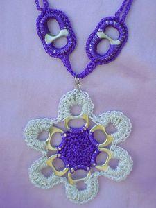 Como Hacer Una Flor De Anillas De Latas A Crochet - Como-hacer-una-flor-a-crochet