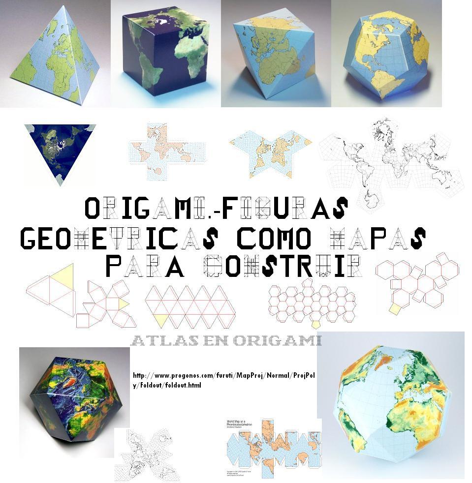 Plantillas Geomtricas Mapas del Mundo para ConstruirsubPapel