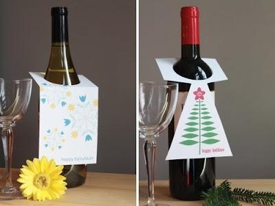 Etiquetas de Fiesta para las Botellas de Vino