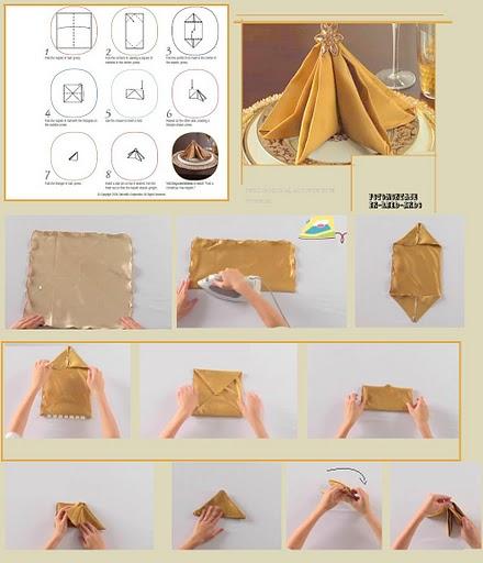cuantos tipos de doblado de servilletas hay