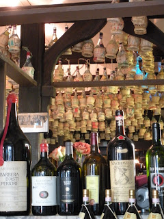 Wine bottles and corks at Luisa's on Union Street in San Francisco