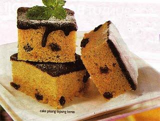 Cake Pisang Tepung Beras
