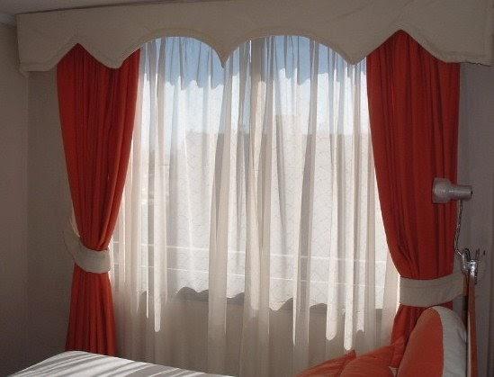 Decoraciones arlines cortina con cenefa y abrazaderas - Cortinas y decoraciones ...