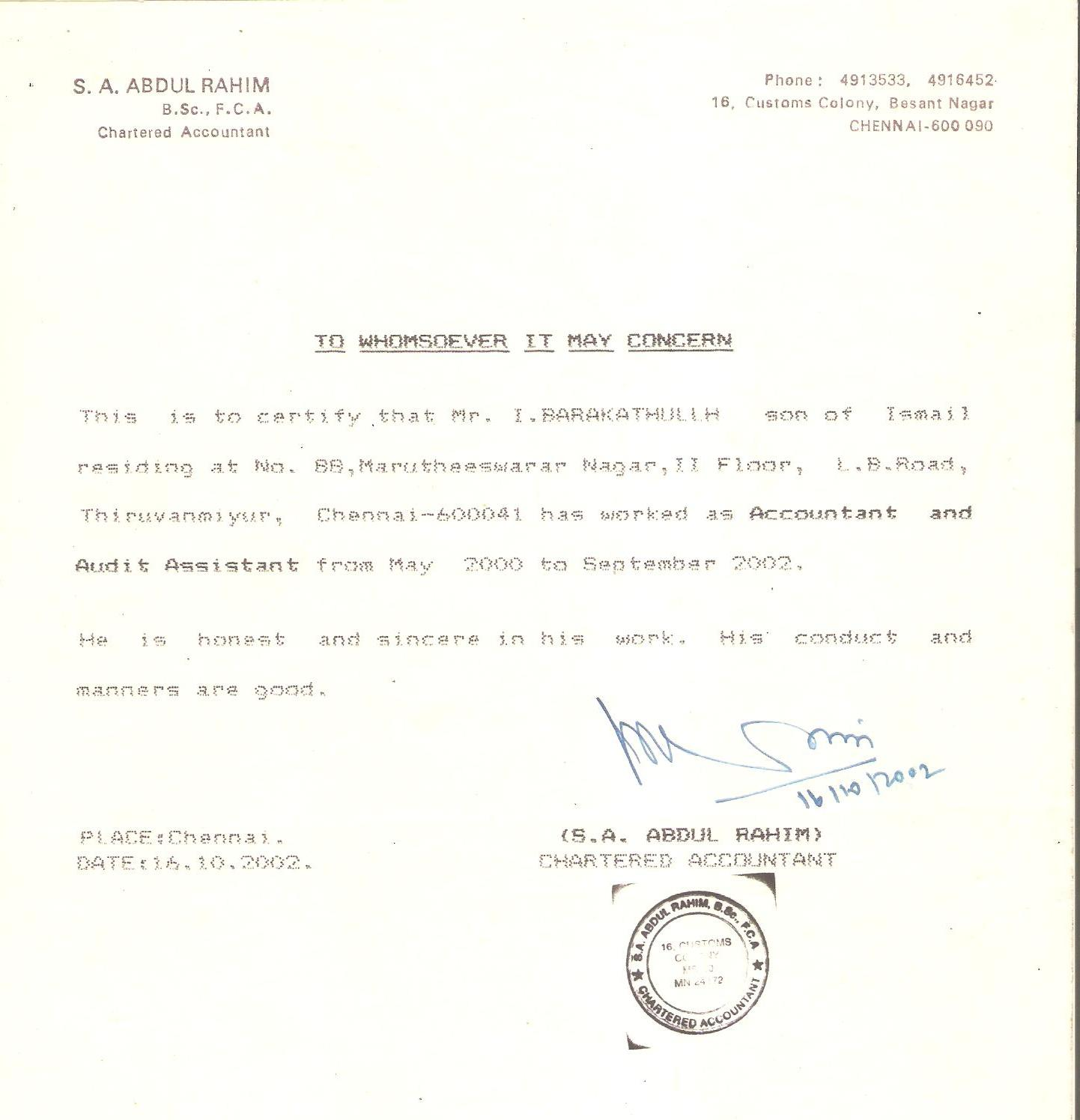 Doc Experience Certificate Format Letter Experience Letter – Job Certificate Format