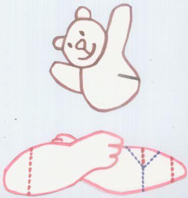 Como hacer una tarjeta pop-up de abrazo de oso de peluche