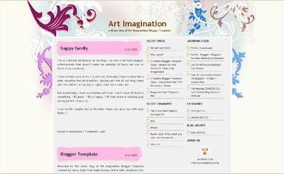 Art Imagination Blogger Xml Templates