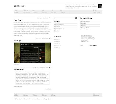 Blogger Buster Grid Focus New Blogger Xml Template